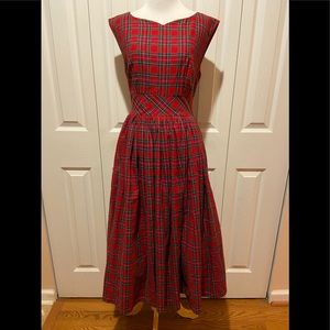 ModCloth~Super Cute Tartan Plaid Fit & Flare Dress